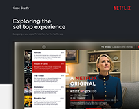 Netflix app redesign for Apple TV
