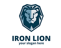 Iron Lion Logo Template