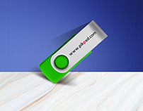 Free New Pen Drive Mock-Up Psd Download