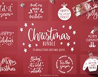 Hand-lettered Christmas SVG Bundle