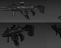3D Textured Rifle Model