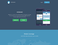 Landing page design for Mobiamo