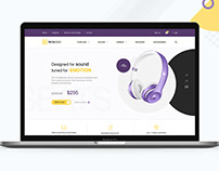Webdesign concept for online store