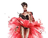 Fashion illustrations: Moschino