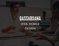 """Qassabxana"" Desktop, Mobile Web Design"