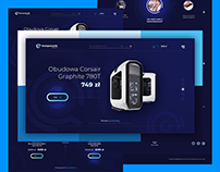 Komputronik logo and website redesign concept