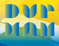 City of Durham Crosswalk Typographic Wayfinding