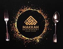 MAKKAH restaurant logo design