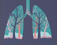 Abstract forest in the lungs