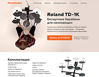 Roland TD-1K Promo Page (Student Work)