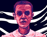 Eleven..Stranger Things fan art
