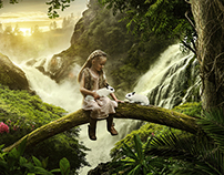 Forest Girl / Photo Manipulation // Matte Painting