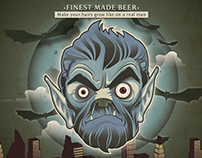 Full Moon beer label and packaging/ Concept design