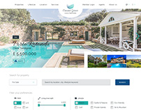 Luxury real estate website
