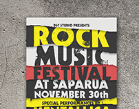 Rock Festival Music Flyer Templates