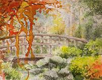The bridge, watercolor