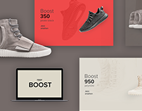 "Adidas ""Yeezy Boost"" Web Concept"