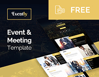 Evently - Event & Meeting Template (Free PSD)
