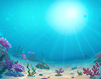 Sea 2D Background