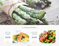 Mucho Gusto Bar & Bistro Website Mockup
