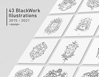 43 BlackWork Illustrations 2015-2021