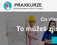 Webdesign of website: Praxkurze.cz