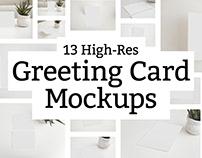 13 Greeting Card Mockups