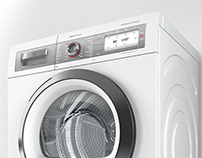 Cloth dryer HiRes 3D model, rendering for Bosch