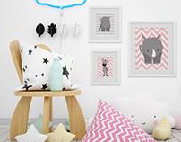 Kids Room & Frame Mockups