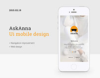 Ask Anna - UI Design
