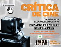 Espacio Cultural Siete Artes: Cursos de Cinematografía
