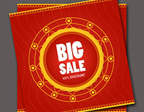 sale offers label vector template