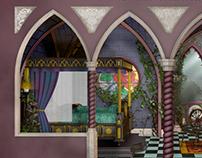 """3D """"Sleeping Beauty's Bedroom"""""""