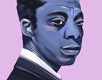 Portrait of James Baldwin