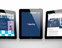 Darby's New Branding iPad Mockup