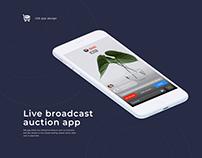 Auction - live broadcast app