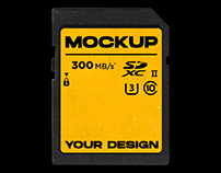 SD Card Mockup - FREE