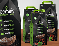 Design de embalagens para Briquetes de Carvão Ecomais