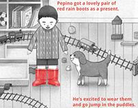 Pepino's Red Rain Boots