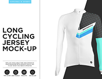 Long Cycling Jersey Mock-up