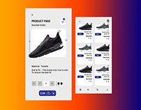 Product item page UI /UX Design