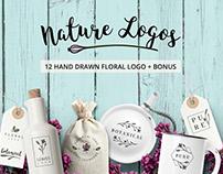 Nature & floral logos + BONUS