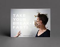 Foto-Challenge – Plakat für eine Frühstückskampagne.