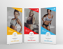 Fitness Roll Up Banner Signage