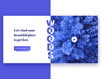 Woods - Landing page
