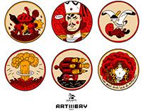 Artillery III Shot Stickers