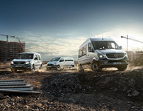 Mercedes Benz Vans - Full CGI Vehicles