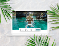 Luxury Tropical Resort Hotel Modern Website Design
