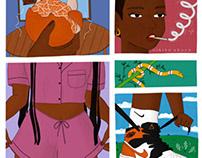 Silent comic pages by Nikita Abuya