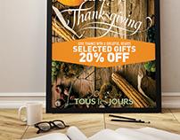 TOUS les JOURS Thanksgiving Poster